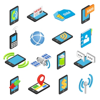 Установить телефон изометрическая 3d иконки