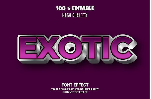 Современный 3d текстовый эффект, эффект редактируемого шрифта