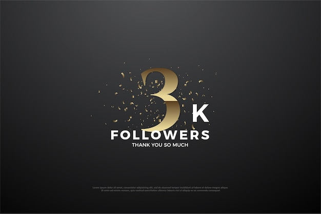3k background followers with golden numbers