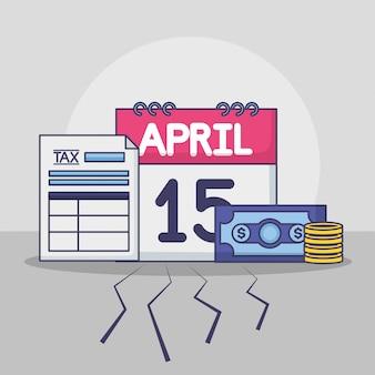 4月15日。納税のコンセプト