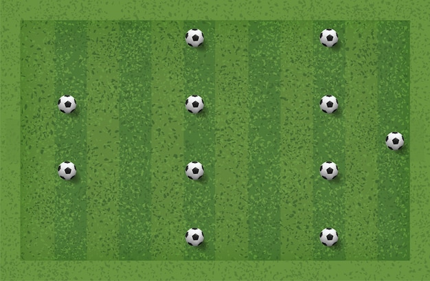 4-4-2 soccer game tactic.