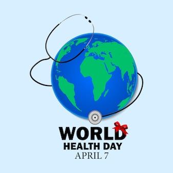 4月7日のイラストに祝われる世界保健デー
