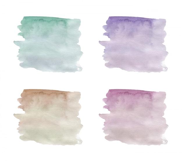 4 мазка акварельной текстуры.