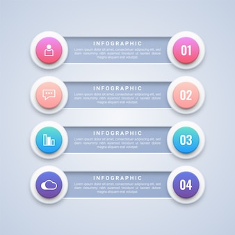 4 circle steps infographic  template