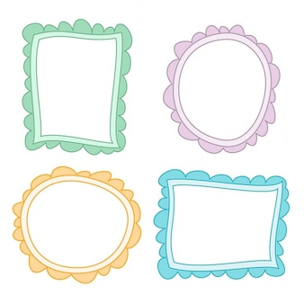 4 cute hand drawn frames