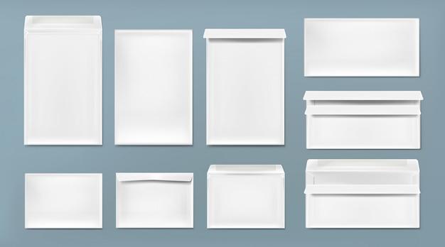 Белый конверт формата а4, dl и c6