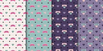 4 elegant seamless patterns