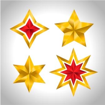 4 gold stars