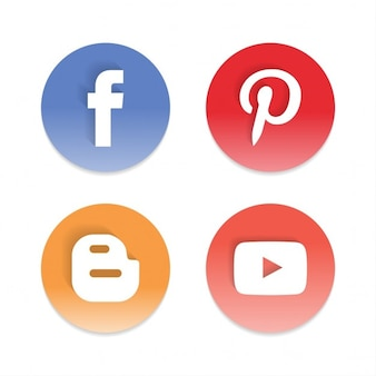 4 icons for social networks