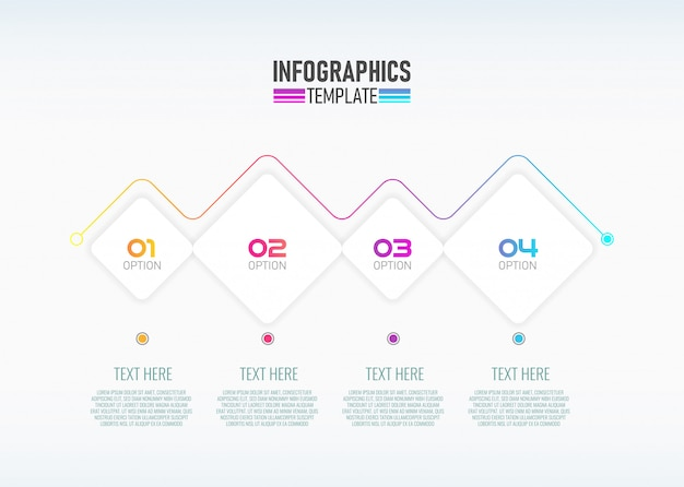 4つのオプションを備えた最新のinfographicテンプレートデザイン。