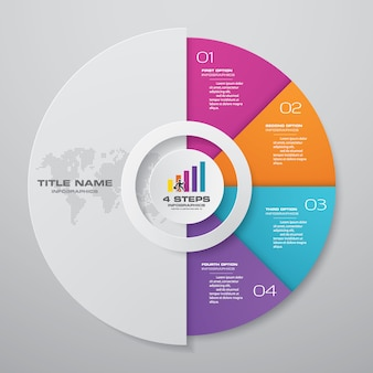 4ステップサイクルチャートのinfographics要素。