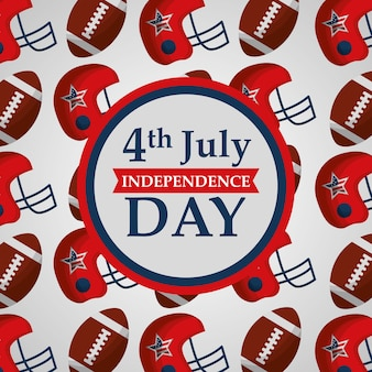 4 july american independence day badge on sport background