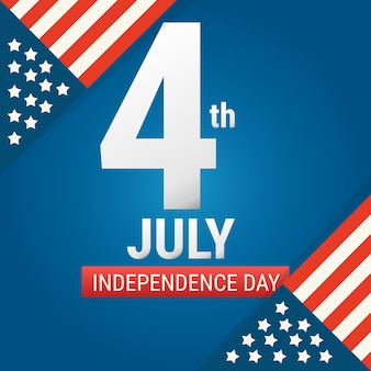 4 july american independence day design.