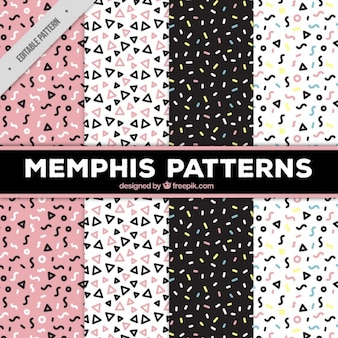 4 memphis patterns