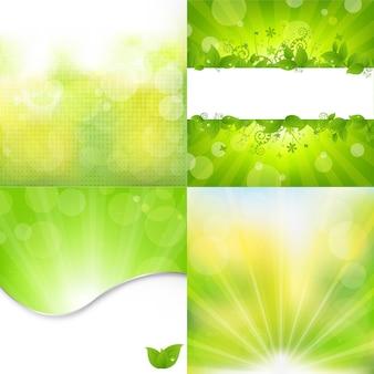 4 фона природы.