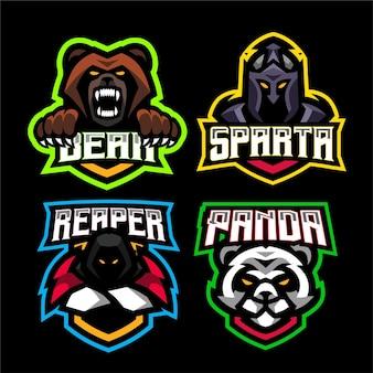 4 마스코트 게임 로고 템플릿 설정
