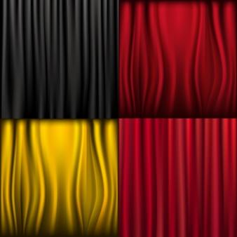 4 шелковые шторы