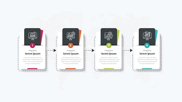 4 шага бизнес-инфографического процесса