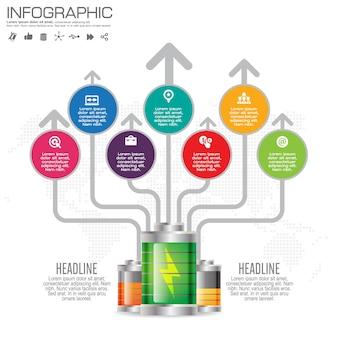 4 단계 인포 그래픽 디자인