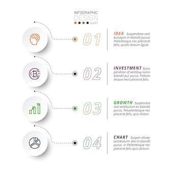 4 шага для представления и отчета о результатах, включая объяснение рабочего процесса предприятия или организации. инфографика.
