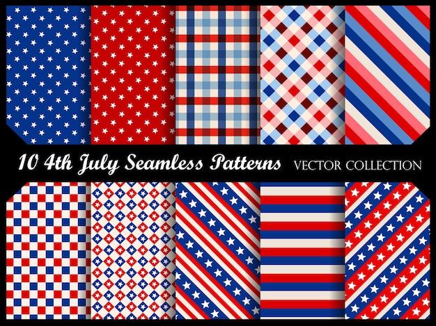 4 th july seamless patterns