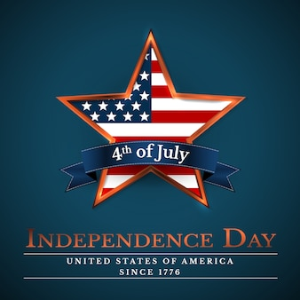 4 th july usa star in national colors of america. independence day.