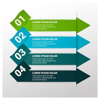 Quattro passi modello infografica