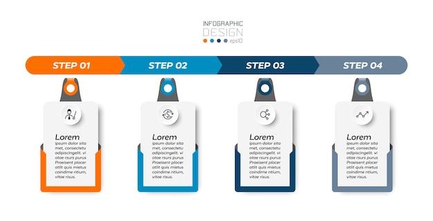 4 рабочих шага инфографики.