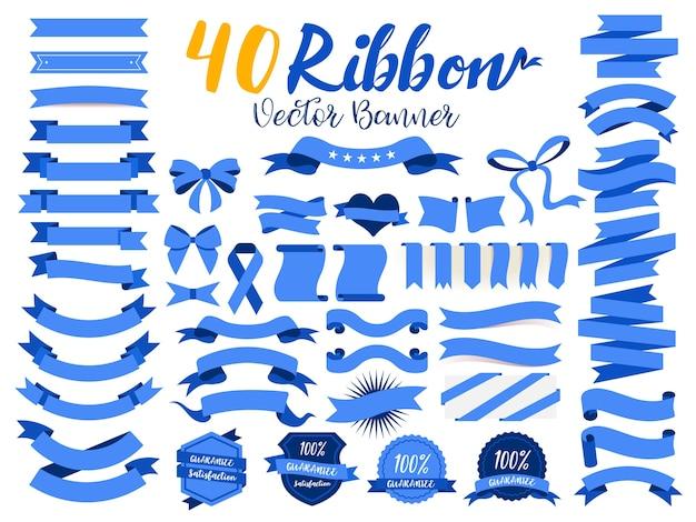 40 blue ribbons