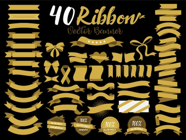 40 gold ribbons