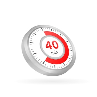 The 40 minutes, stopwatch vector icon