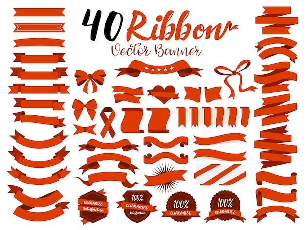 40 red ribbons