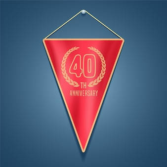 40 years anniversary vector icon. graphic design element for decoration for 40th anniversary card