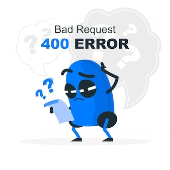 400 error bad request concept illustration