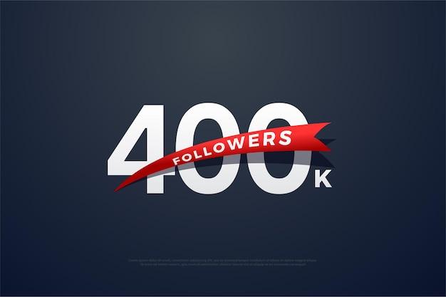 400 тыс. подписчиков используют плоские числа Premium векторы