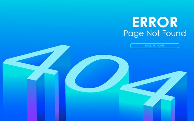 404 error 3d style vector