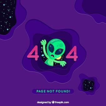Errore 404 sfondo in stile piatto