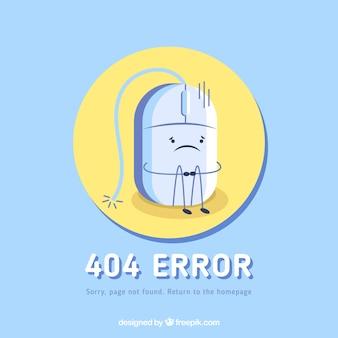 404 error background in flat style