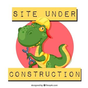 404 error background with a dinosaur