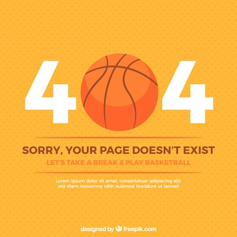 404 error background with basketball