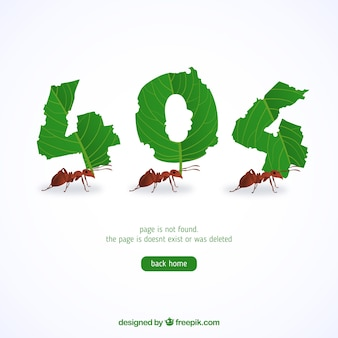 404 error background with bugs