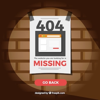 404 error background with missing paper
