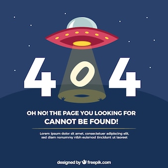 404 error background with ufo