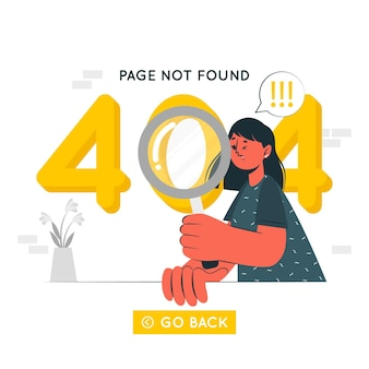 404 ошибка концепции иллюстрации
