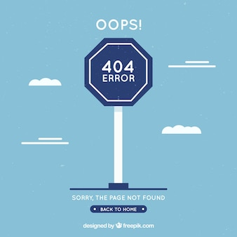 404 error concept with blue sign