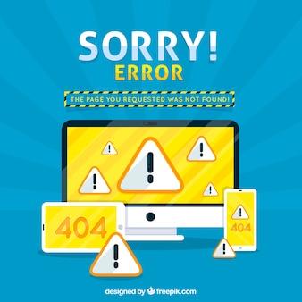 404 с компьютером и смартфоном