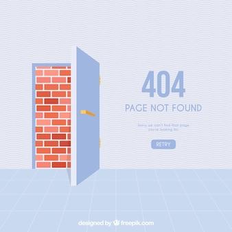 404 error concept with door