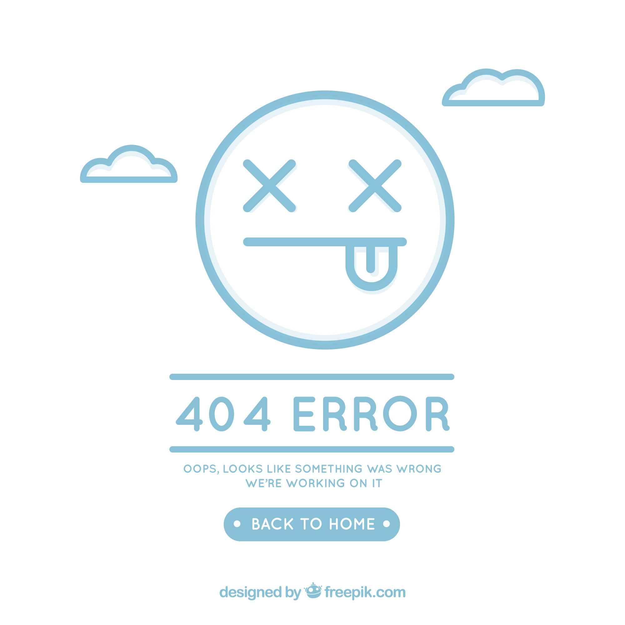 404 error concept with face