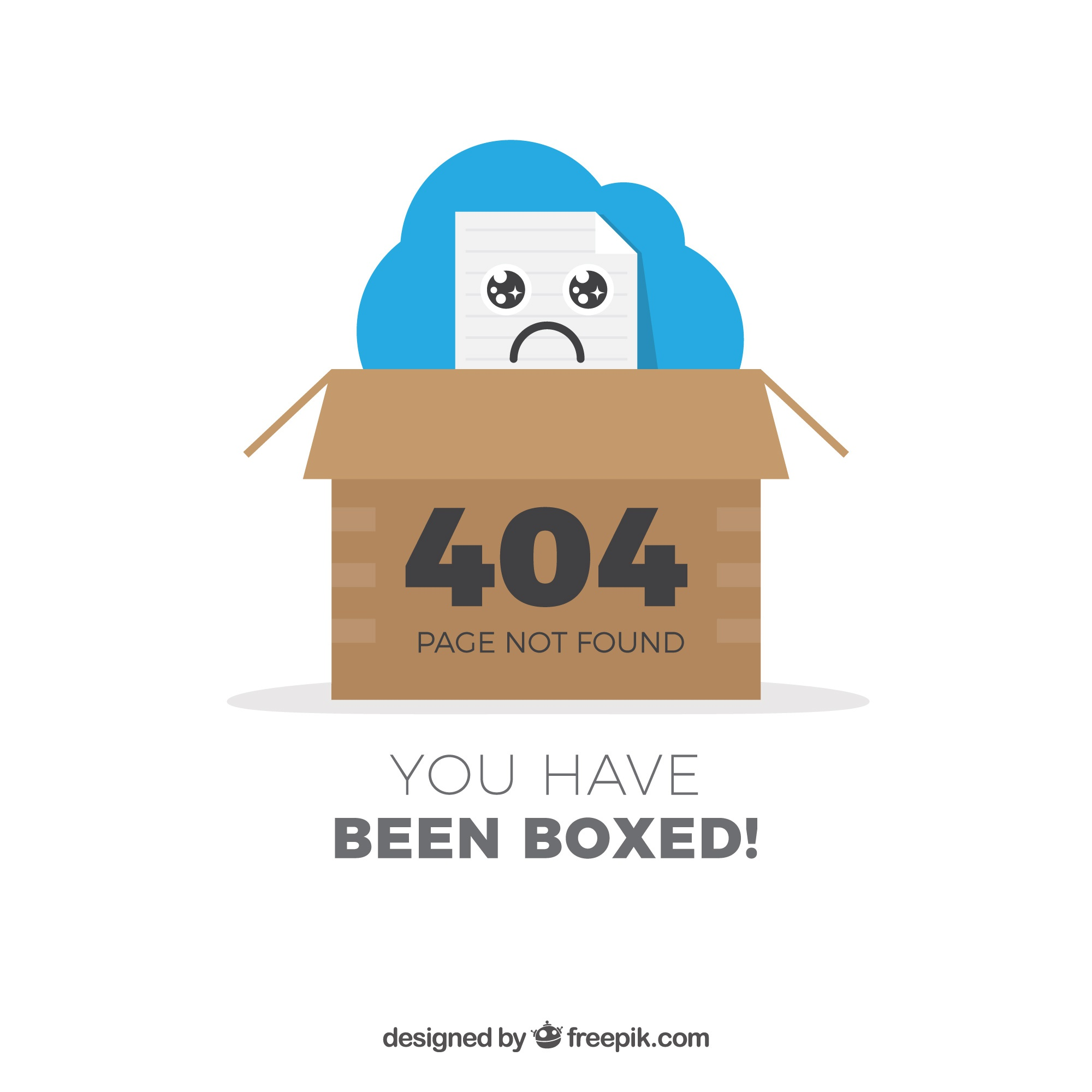 404 error design with box
