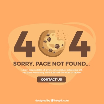 404 error design with cookie
